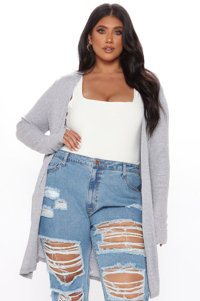 Cozy Moments Cardigan - Heather Grey