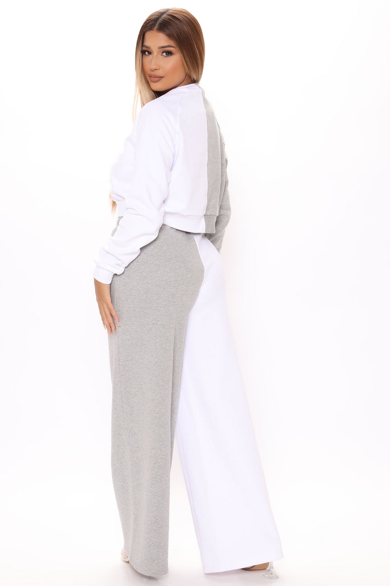 Colorblock You Out Pant Set - Grey/combo