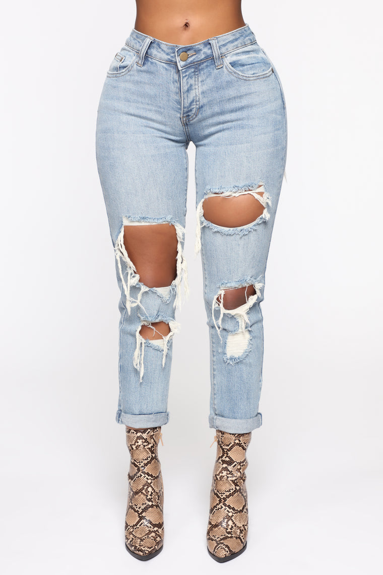 So Over You Boyfriend Jeans - Light Blue Wash