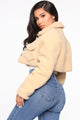 Short And Cozy Jacket - Beige