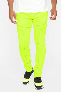 Isaiah Track Pants - Neon Yellow