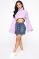 Sprung Over You Fuzzy Sweater - Lavender