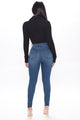What A Stand Out Skinny Jeans - Medium Blue Wash