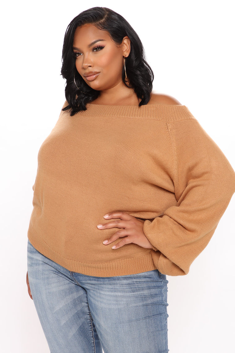 Sway My Way One Shoulder Pullover - Brown