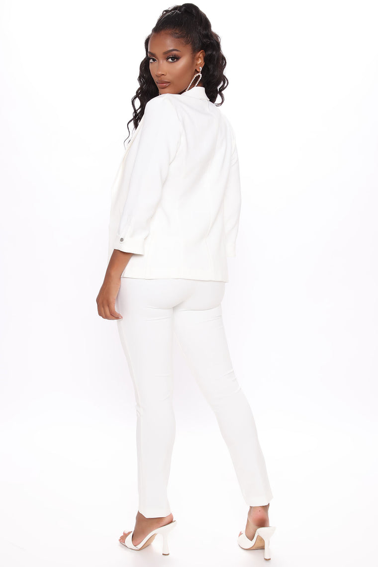 Going Into A Meeting Trousers - Ivory