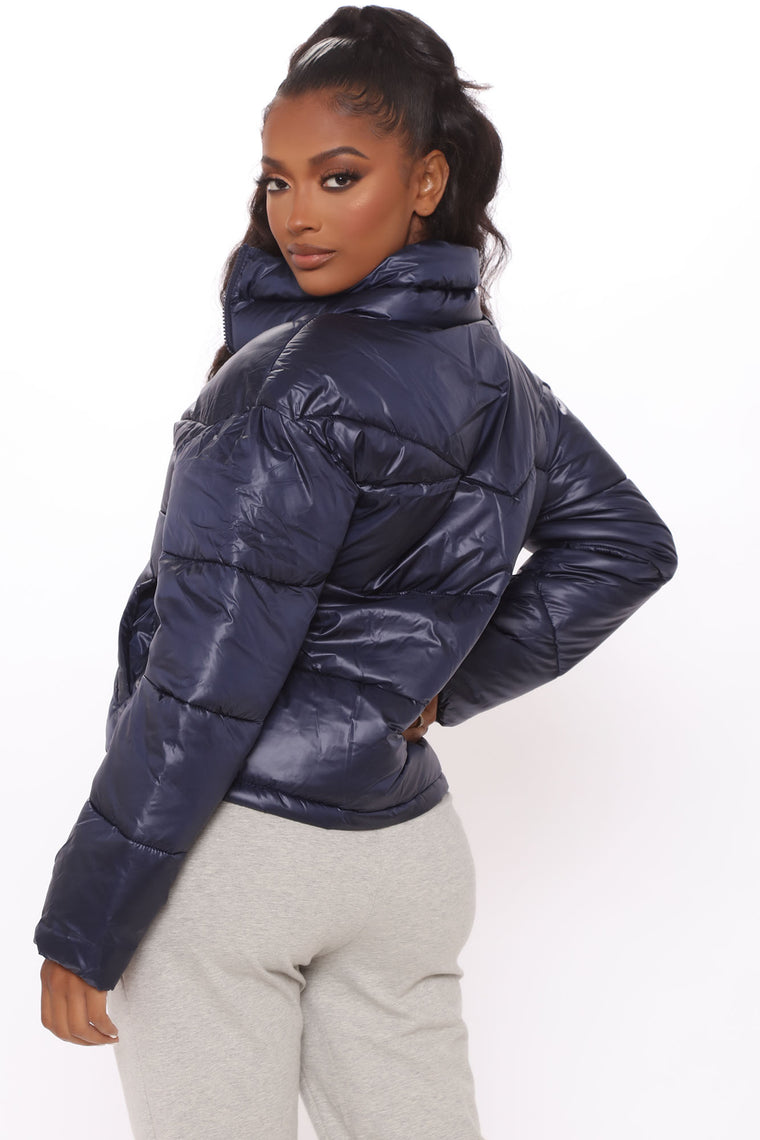 City Streets Puffer Jacket - Navy
