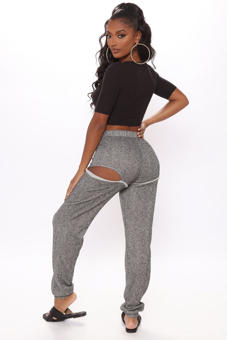 Show Some Skin Skinny Jogger - Charcoal
