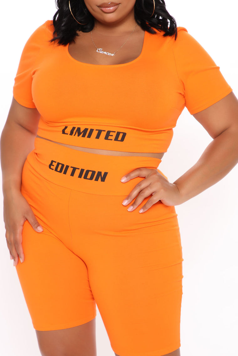 Limited Edition Nova Biker Short Set - Orange