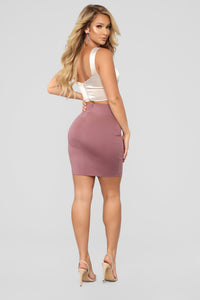 So Set Mini Ponte Skirt - Pink
