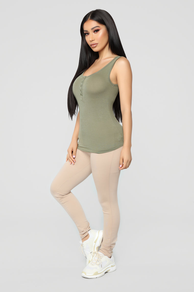 Love This Tank - Olive