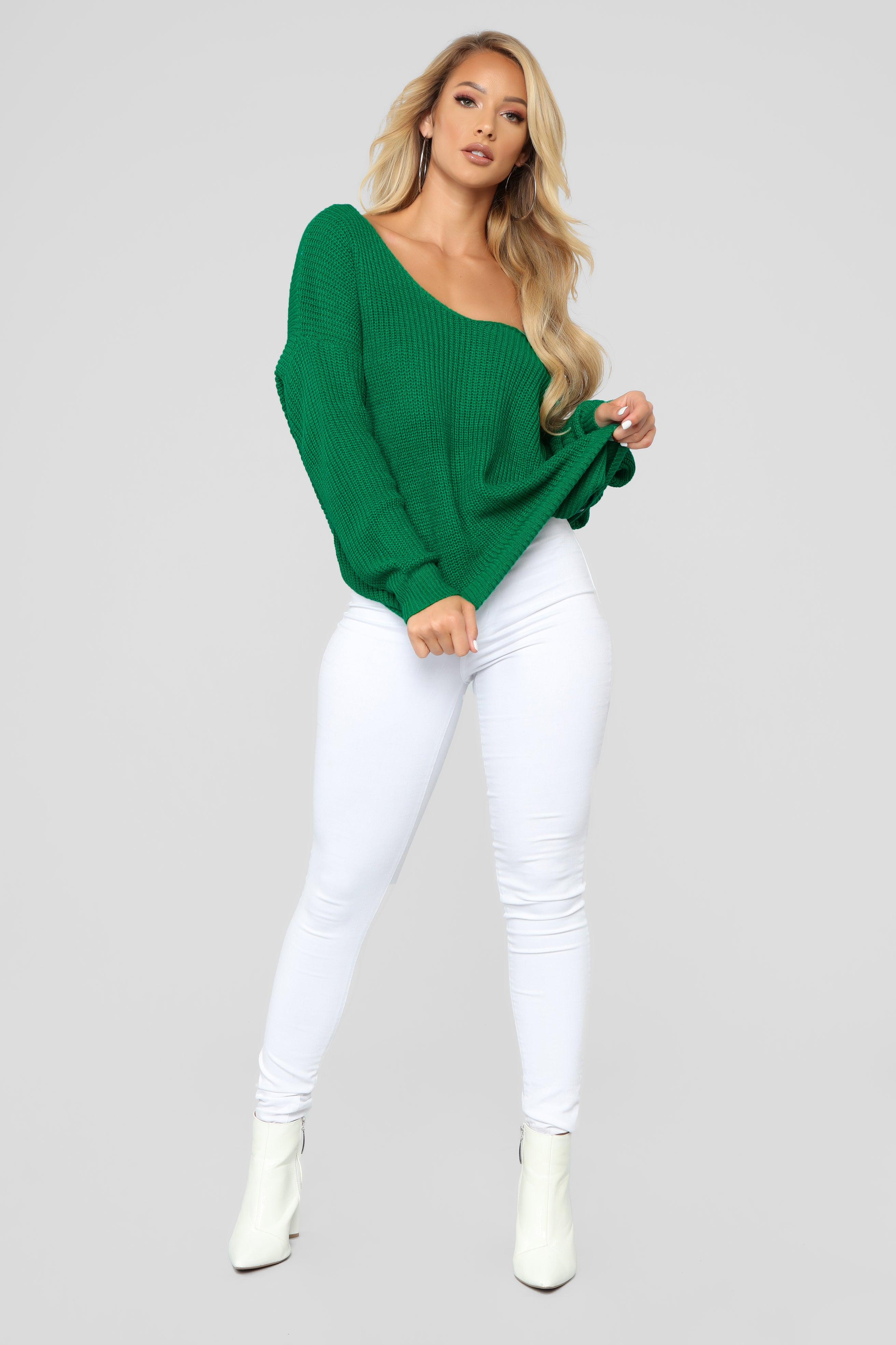 bbc84d8202 Carianna Twist Front Sweater - Kelly Green