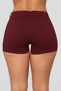 Riley Shorts - Burgundy