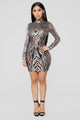 Everything Paid For Sequin Dress - Gold