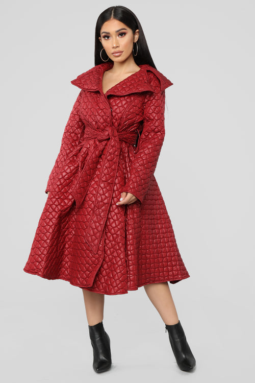 End Game Coat - Burgundy