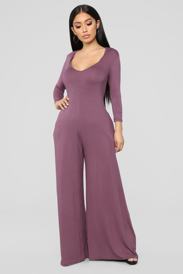 898041c31c67 Bound To Be You Jumpsuit - Dusty Violet