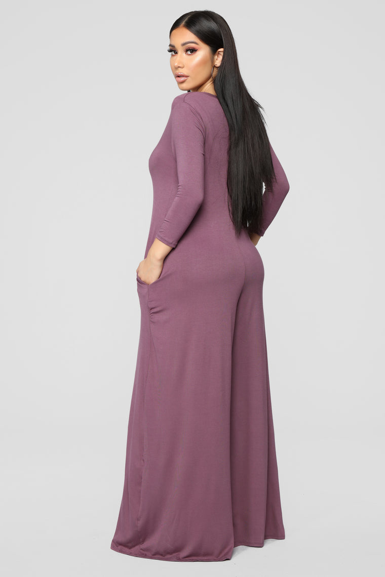 Bound To Be You Jumpsuit - Dusty Violet