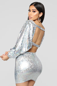 Lia Skirt Set - Silver