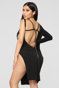 Nova Vixen One Shoulder Dress - Black