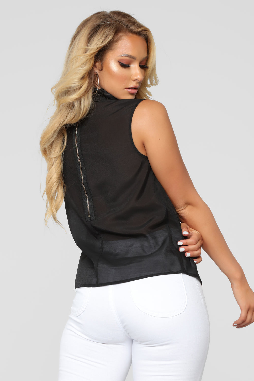 Out Of Work Blouse - Black
