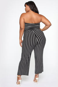 Beautiful And Breezy Jumpsuit - Black/White
