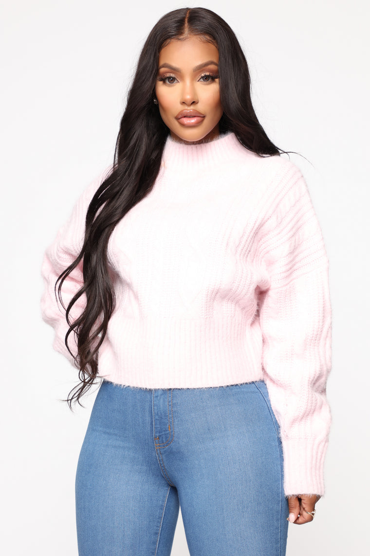 Dream Come True Sweater - Light Pink