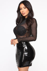 Look At Me Bodysuit - Black Angle 5
