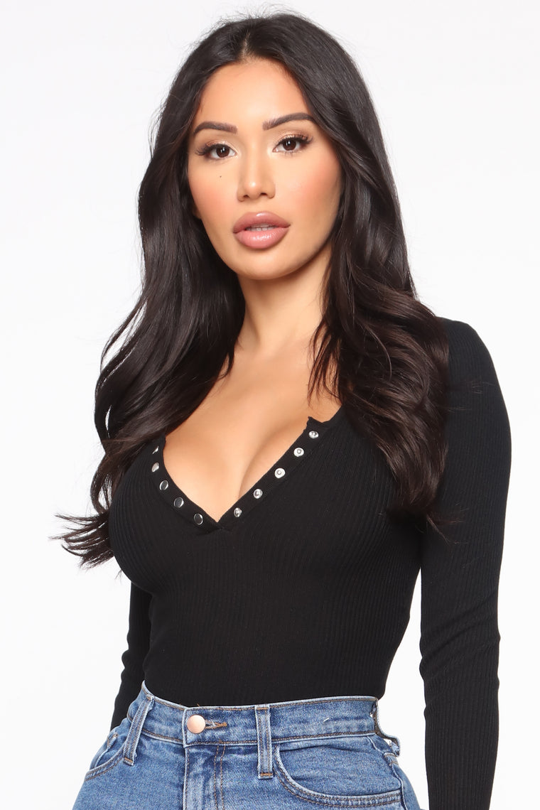Hey Julie Ribbed Sweater - Black