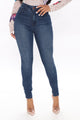 What A Stand Out Skinny Jeans - Dark Wash