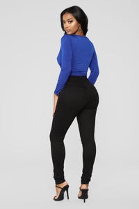 Penelope Long Sleeve Bodysuit - Royal