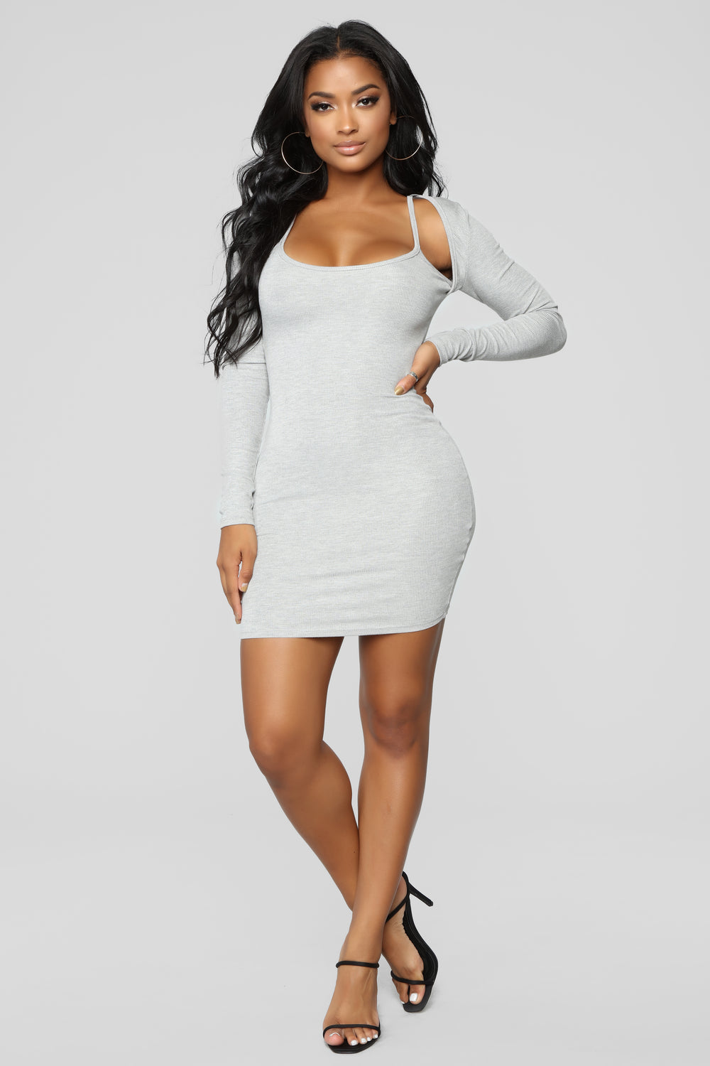 Living Life Dress - Heather Grey
