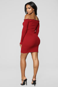 Ruby Ruffle Dress - Ruby