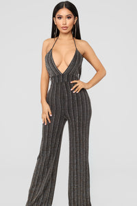 Start Talking Jumpsuit - Gold