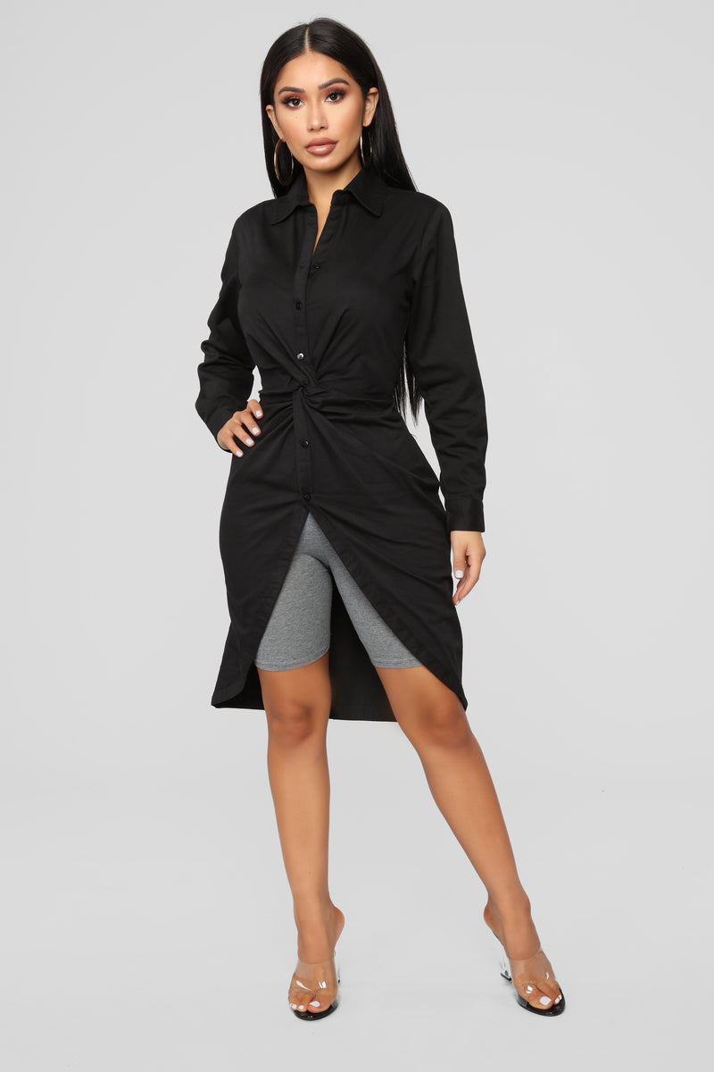 Knot Available Tunic - Black