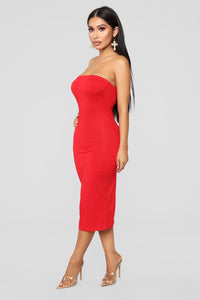 Rhianna Tube Dress - Red