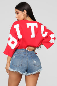 Bitch Don't Kill My Vibe Top - Red
