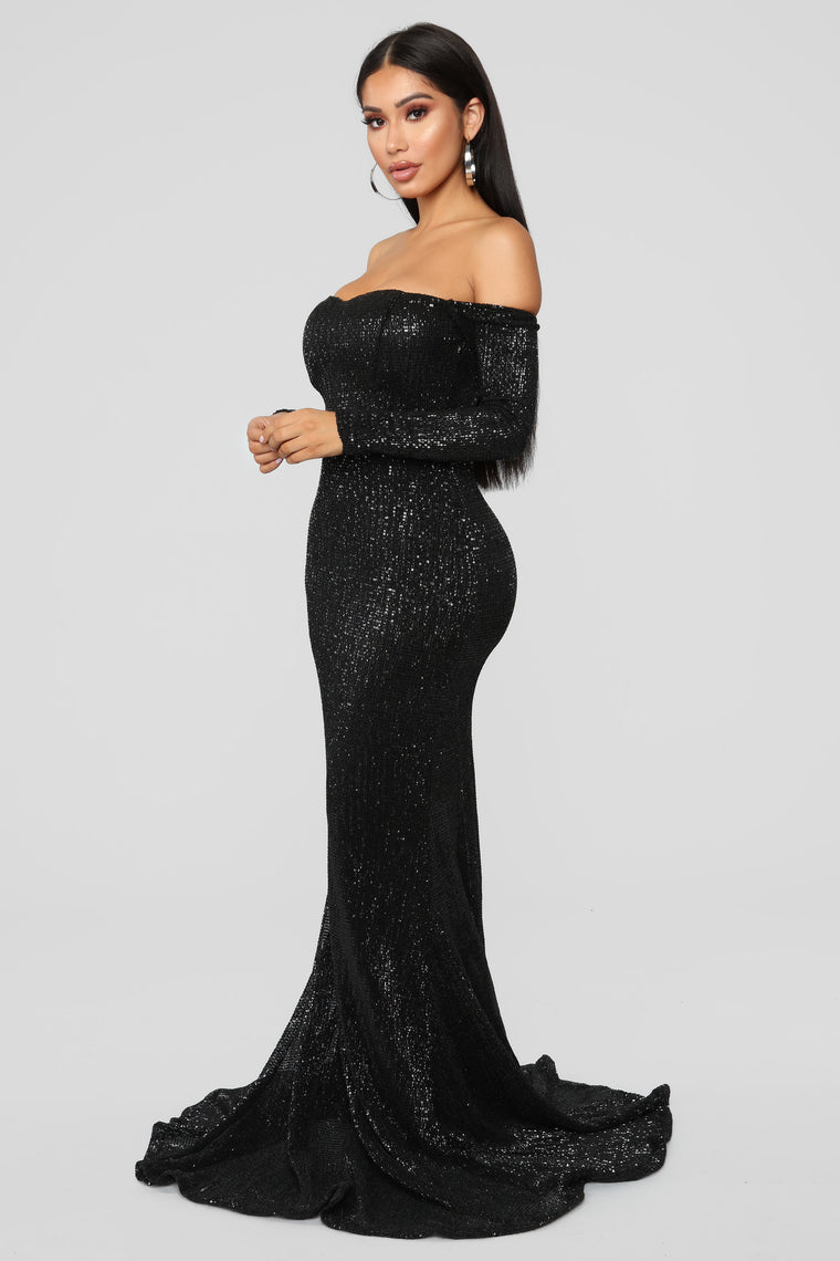Got Class Sequin Dress - Black