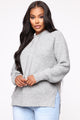 Lost In My Thoughts Hooded Sweater - Heather Grey
