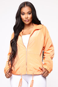 Come On Over Windbreaker Jacket - Orange