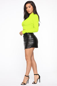 Tory Ribbed Sweater - Lime