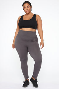 Waisted Away High Rise Legging - Charcoal