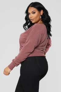 Staying In For The Night Sweater - Mauve Angle 4
