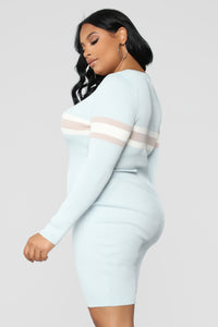 Skylar Sweater Midi Dress - Light Blue
