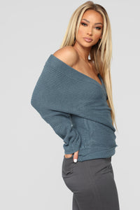 Nice And Cozy Sweater - Blue