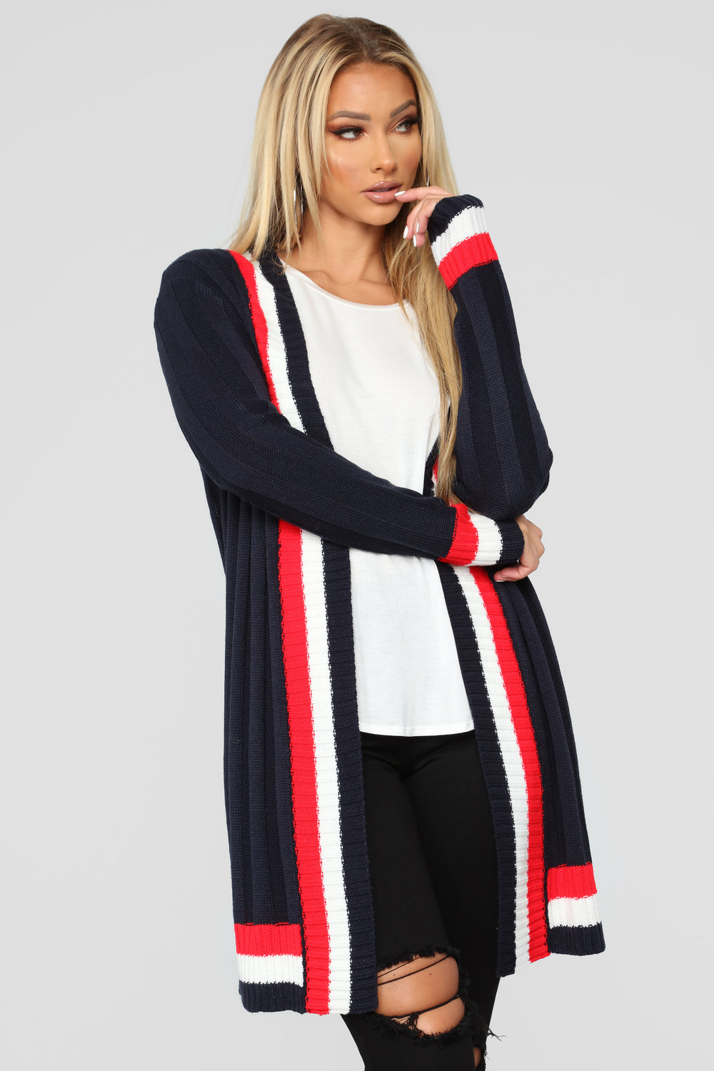 Call On Me Cardigan - Navy