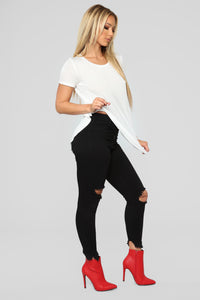 Timeless Crew Neck Top - Ivory