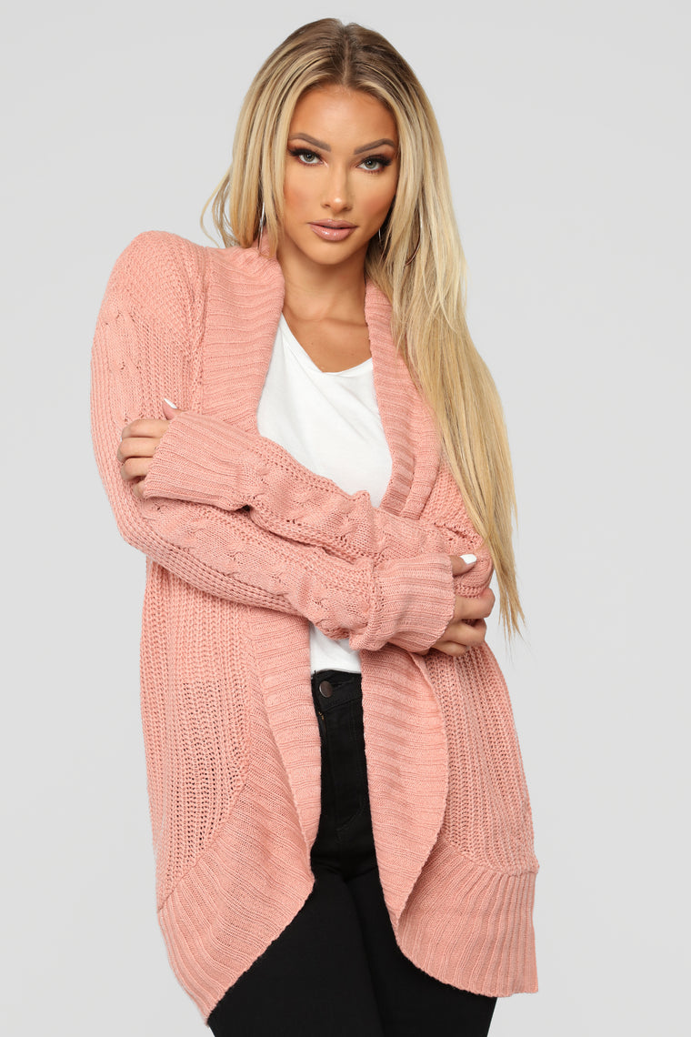 Kris Shawl Collar Cardigan   Mauve by Fashion Nova