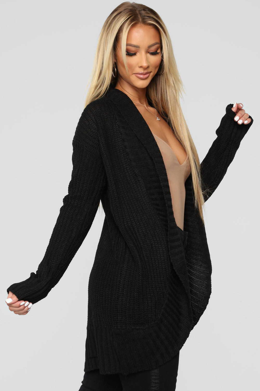 Kris Shawl Collar Cardigan - Black
