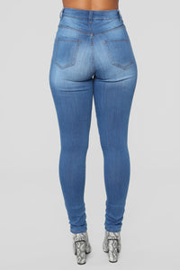 Do I wanna Know Skinny Jeans - Medium Blue Wash