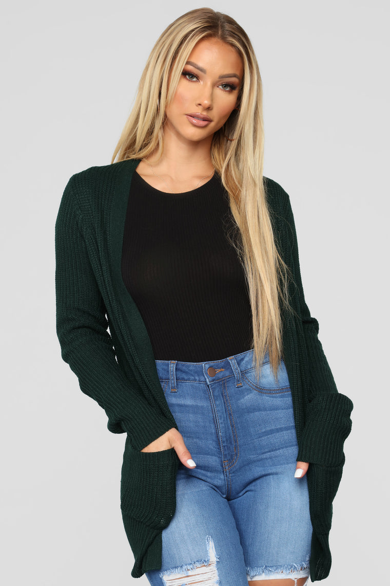 Zoe Two Pocket Cardigan   Hunter by Fashion Nova