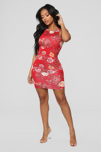 Explore More Tank Dress - Red Floral